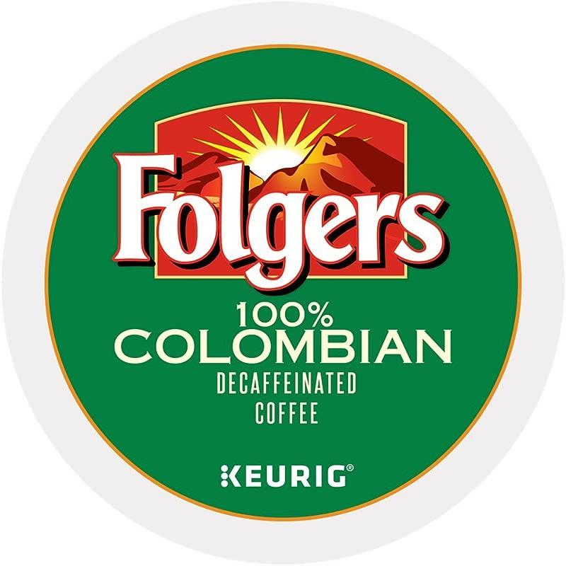 Folgers 100 Colombian Decaf Coffee Keurig K Cups 72 Count