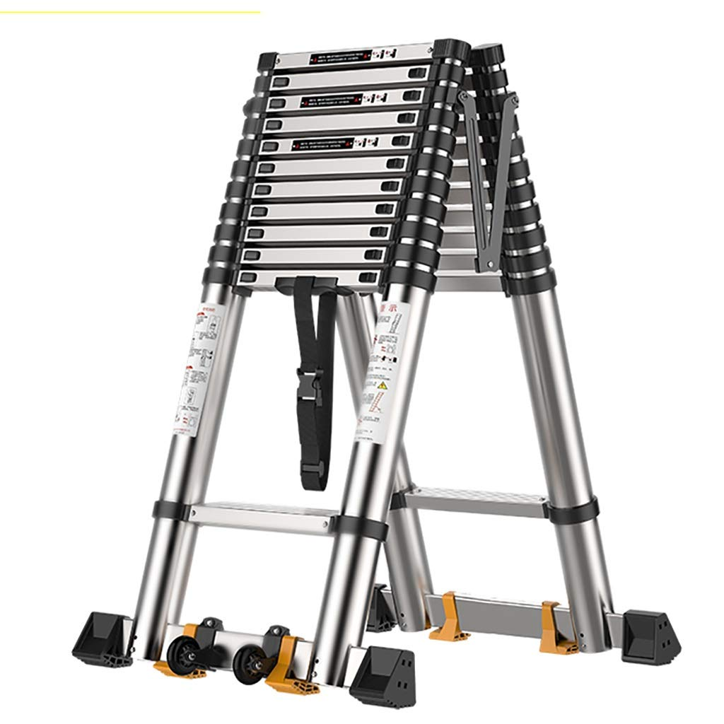 Escaleras plegables aluminio Extensión Extensible De Escalera Telescópica De Aluminio Multipropósito: Escalera Plegable Portátil For Oficina En El Hogar, Capacidad De Carga 330 Lb taburete escalera pl: Amazon.es: Hogar