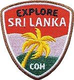 Club of Heroes 2 x Sri Lanka Abzeichen 55 x 60 mm gestickt/Entdecker Aufnäher Aufbügler Sticker Wappen Patches für Kleidung Rucksack/Reiseführer Abenteuer Flagge Fahne Land