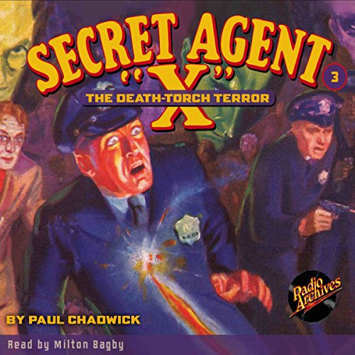 Secret Agent X #3 April, 1934 audiobook cover art