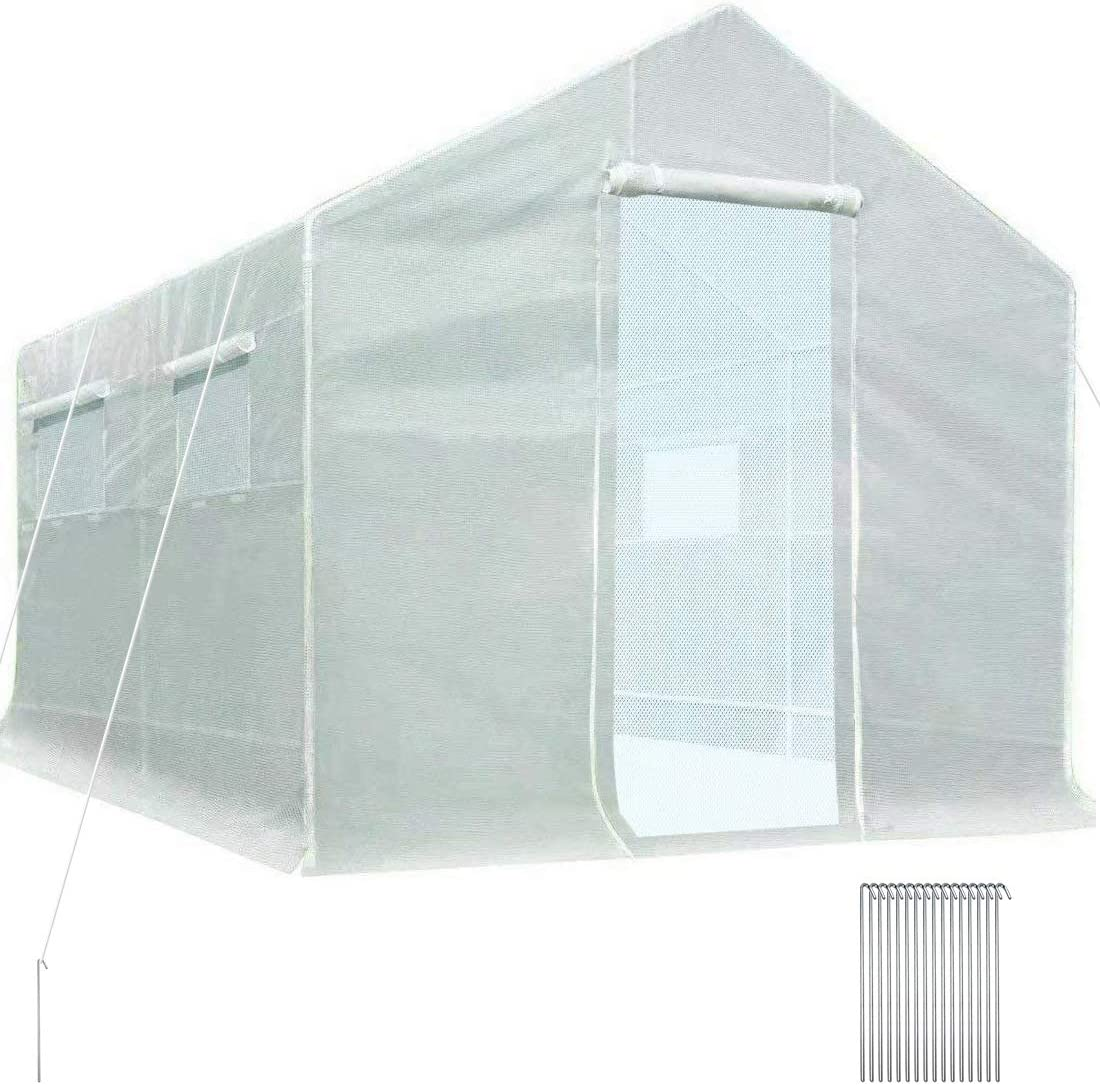 Quictent 10'x9'x8' 2 High order Doors Portable Greenhouse Jacksonville Mall Walk-in Gre Large