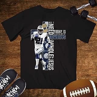 Elliott No.21 Is All I Need And Jesus Christian Cross Dallas Football Shirt Customized Handmade Hoodie/Sweater/Long Sleeve/Tank Top/Premium T-shirt