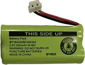 JustGreatDealz Battery BT184342 / BT284342 for AT&T Vtech GE RCA and Clarity Phones 2.4V 550mAh Ni-MH