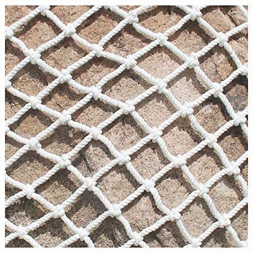 JFFFFWI Garden Netting Balcony Stair Safety Protection For Kids Cargo Net Garden Plant Decoration Anti-cat Isolation Playground Court Fence Outdoor Obstacle Lattice Goal Backstop Cord Nett