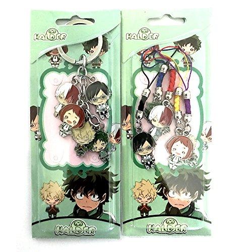 Anime My Hero Academia Characters Keychain & Hanger Set