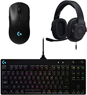 Logicool G ゲーミングマウス/ゲーミングヘッドセット/ゲーミングキーボード セット G-PPD-002WLr + G433BK + G-PKB-002