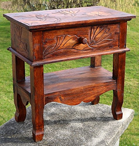 Beistelltisch Telefontisch Kommode Nachttisch braun Sideboard Schrank 24
