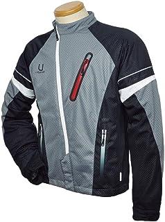 アーバニズム(urbanism) バイク用ジャケット アシンメトリー メッシュジャケット グレー/ブラック L UNJ-042