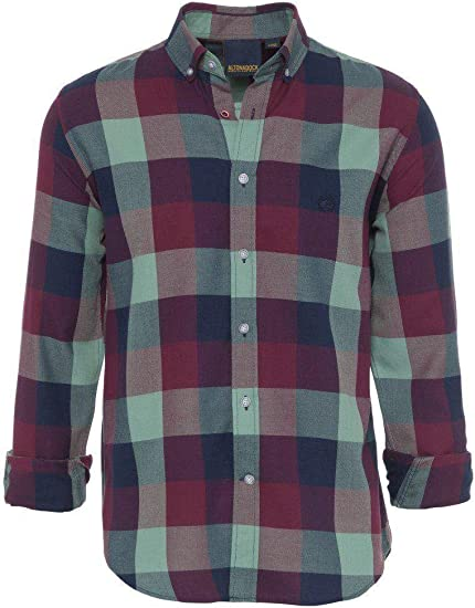 ALTONADOCK Camisa Cuadros Granate Y Verde para ...