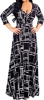 Vestidos Primavera Mujer l- 5xl Tallas Grandes Manga Largos con Fajas Elegantes Verano Largo Casual Dibujos de Flores 2021...