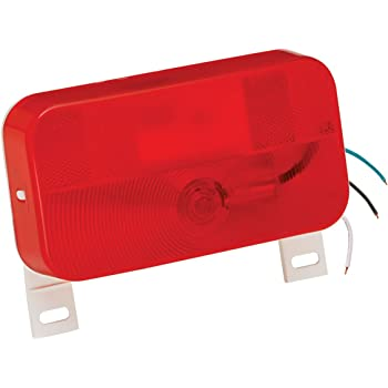 Bargman 31-92-003 Mount Stop/Tail/Turn Light (Surface with License Light and Bracket - White Base)