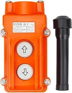 Rainproof COB61 Crane Pendant Control Station UP Down Hoist Push Button Switch