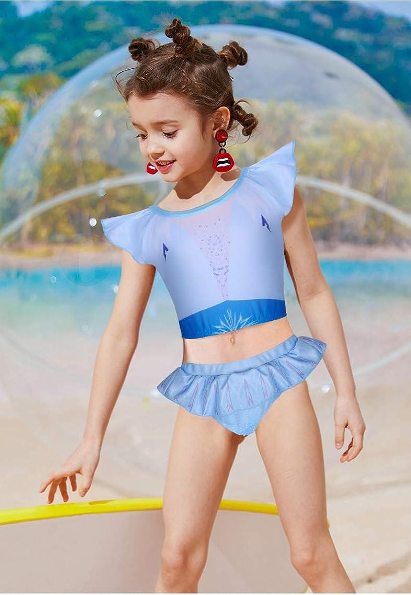 LMM Toddler Girls Two Piece Bathing Suit Princess Swimwear Swimsuit Bikini UPF 50