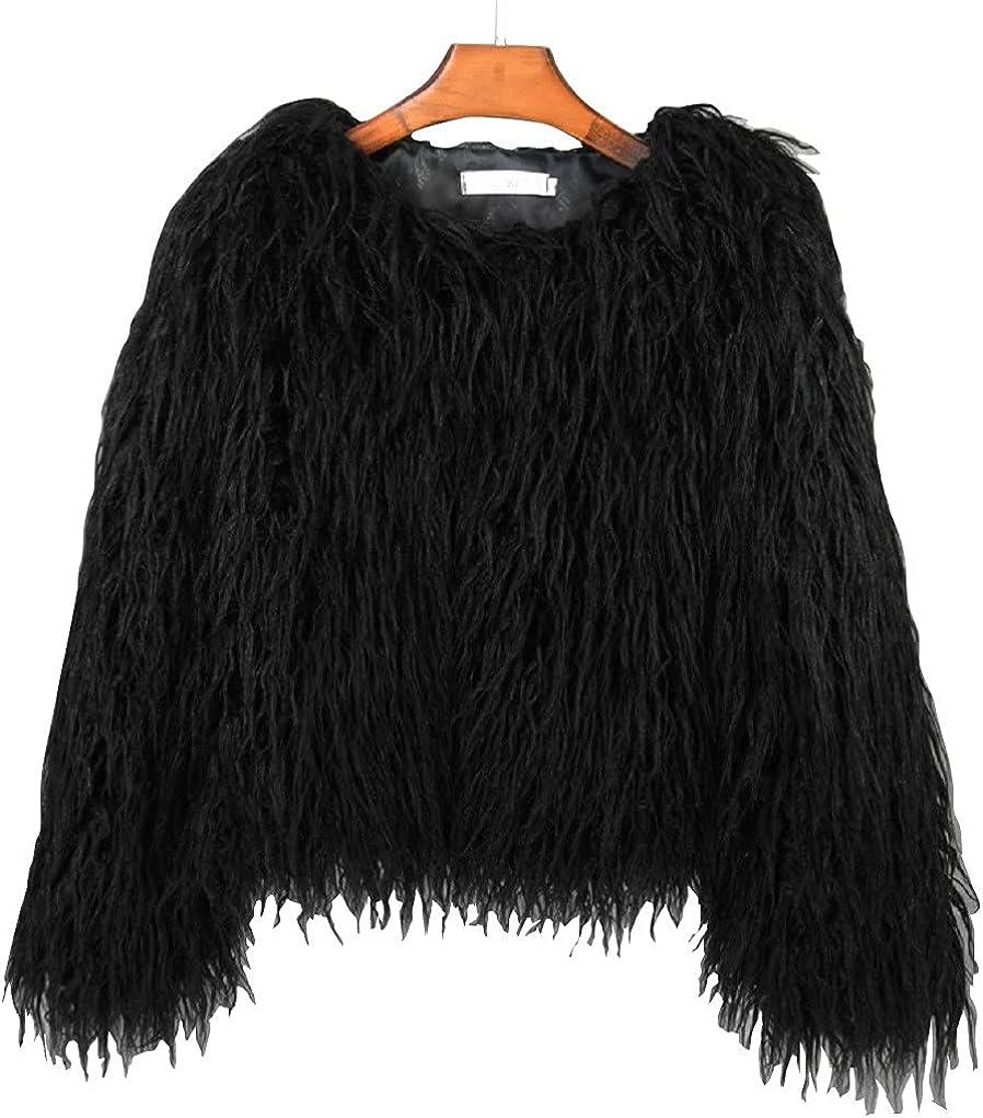Adonis Pigou Winter Fluffy Faux Fur Ranking TOP12 Jacket sale Coat L Shaggy Women's