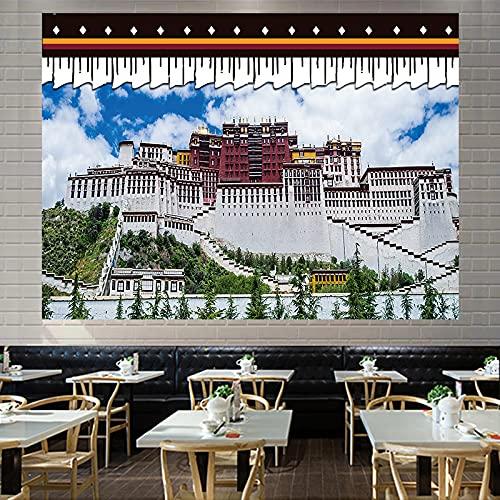 CYYyang Lienzo de Pared de Sala de Estar Budista Tibetano