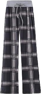amropi Mujer Amplia y Cómoda Pantalones de Floral Impresión Holgada Palazzo Casual Trousers