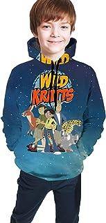 Unisex Stylish Hoodies for Girls Boys 3D Print Pullover Hoodie Sweatshirts with Kangaroo Pockets