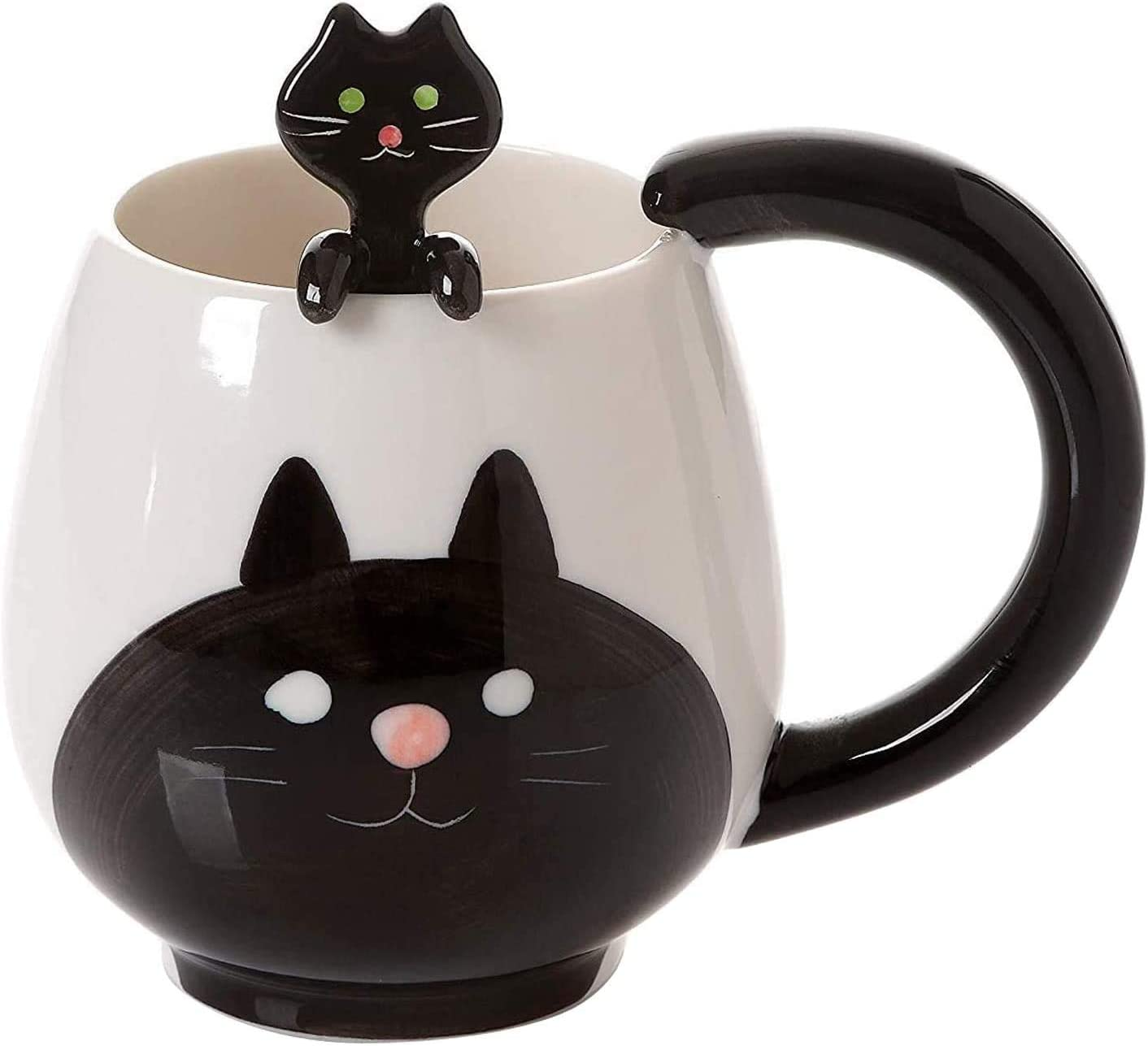 Funny Inexpensive Coffee Mug 15 oz Spoon Novel Sale SALE% OFF Pig with