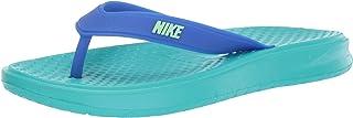Nike Men's Solay Thong Slide Sandal, Hyper Jade/Lime Blast - Racer Blue