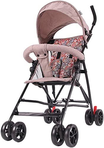 ZELIAN Le Chariot Multifonctionnel des Enfants Peut s'asseoir Peut s'allonger Simple léger Pliable Antichoc Voyage d'été Nécessaire bébé Parapluie Voiture