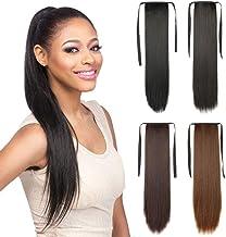 Extensiones de pelo largo y recto Remeehi de fibra sintética para cabello humano