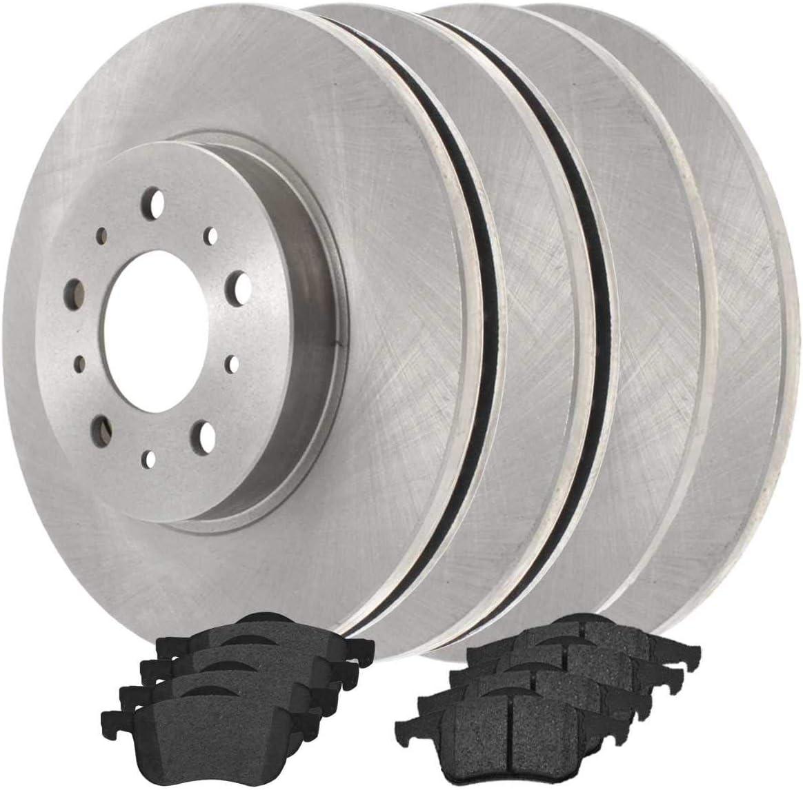 バーゲンセール AutoShack SCD7948679 Set of 4 Front Roto and Brake Disc Kit 世界の人気ブランド Rear