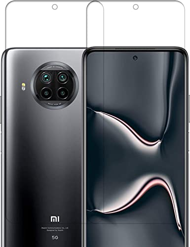 Tough Lee Tempered Glass For Mi 10I Redmi Note 9 Pro Note 9 Pro Max Poco M2 Pro Poco X3 With Front Camera Cut Transparent Full Screen Coverage Except Edges Slightly Small Pack Of 2