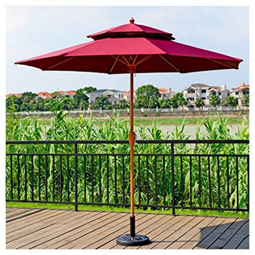 YDDZ Sombrillas de Jardín Sombrillas de Patio al Aire Libre Sin Base Protección UV Diseño Impermeable Plegable Utilizado para Balcones al Aire Libre Cafés Mercados de Puertas