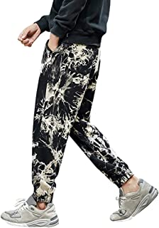OULSEN Fashion Mens Trousers Cargo Pants Tie-dye Print Loose Casual Harem Pants Trousers Long Pants Men Plus Size