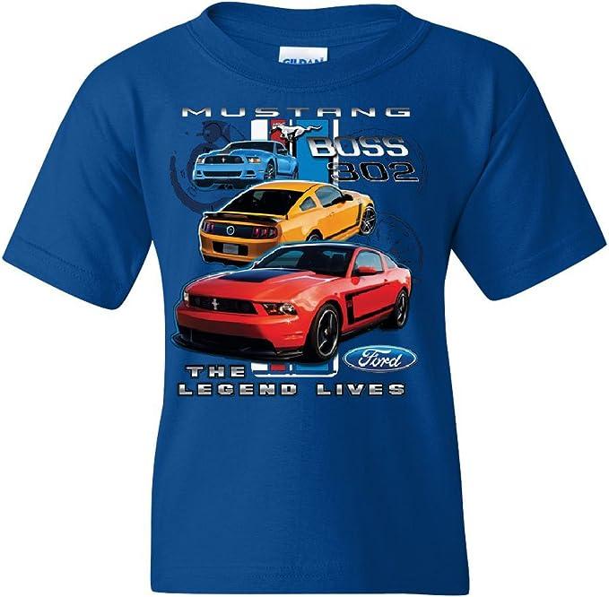 Toddler T-Shirt Ford Mustang The Legend Lives Crest Pocket Print