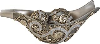 ORE International K-4232-B1 Silver Vine Decorative Bowl with Spheres, Gold