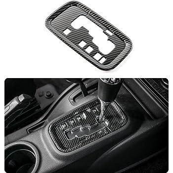 Black Auto Accessories ABS Gear Shift Cover Decoration Sticker