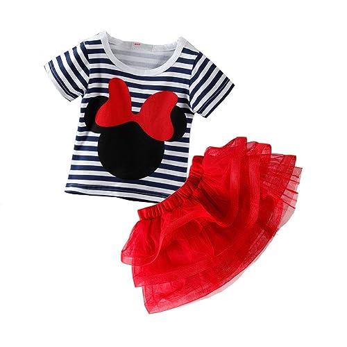 82590ea30 Mud Kingdom Toddler Girls' Cartoon Cute Set T-Shirt and Tutu Skirt Outfit