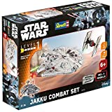 Revell Maquette Star Wars Jakku Combat Set Reproduction à l'échelle 1:51, niveau 1 avec Light & Sound
