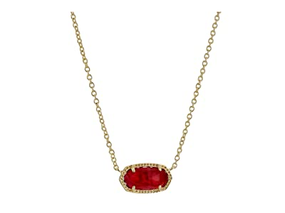 Kendra Scott Elisa Birthstone Necklace (October/Gold/Berry Illusion) Necklace