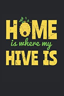 Home Is Where My Hive Is: College Ruled Lined Hives Notebook for Beekeepers or Bee Lovers (or Gift for Honey Lovers or Hon...