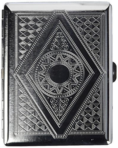 Victorian Era Crush Proof Chrome Cigarette Case (Hold King Size and 100mm)
