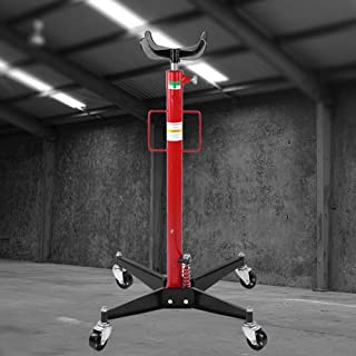 VEPEN 1100 Lb Hydraulic Transmission Jack, High Lift Transmission Jack, Foot Pump Spring Loaded Transmission Jack