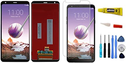 for LG Stylo 4 Q710 Q710MS Display LCD Touch Screen Digitizer Assembly Cracked Replacement Repair Part + Adhesive Glue + Tool + Tempered Glass Screen Protector