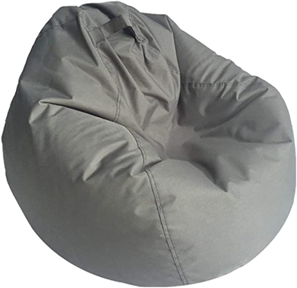 Lazy BeanBag Sofas Waterproof Stuffed Animal Storage Toy Bean Bag Solid Color Chair Cover Beanbag Sofas Without Lining Gray