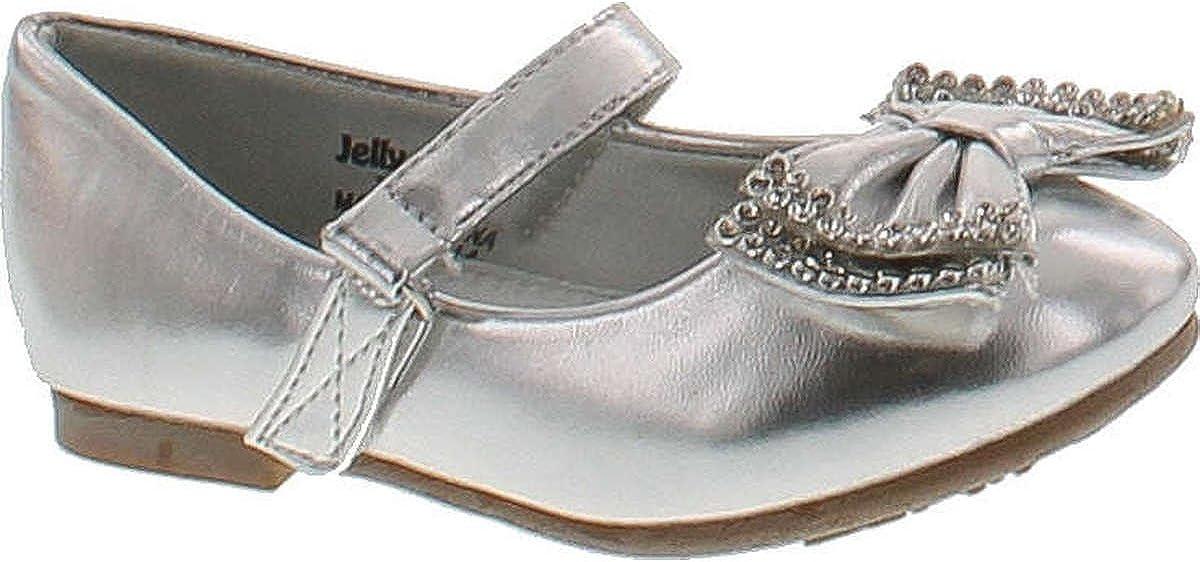 JELLYBEANS Jelly Beans Yoyoma Toddlers Little Girls Glitter Bow Ballerina Falt Shoes