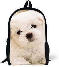 HUGS IDEA Cute Kids School Bag Bookbag Puppy Printed Backpack for Teenagers Girls Casual Travel Bags