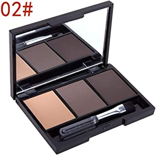 Cosmetic Matte Eye Shadow 3 Colors Make Up Set Women Makeup Eyeshadow Palette Eyebrow Eye Shadow Powder Natural Cosmetics A01