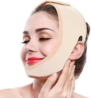 Adelgazante Facial Vendajes de Cara Máscara V Line para Adelgazar Papada Reductor y Antiarrugas cuidado facial piel compacto