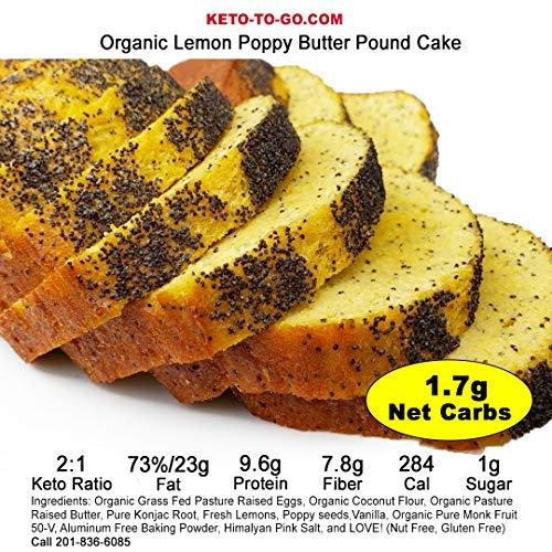 Keto Pound Cake - Lemon Poppy - Organic, Low Carb, Gluten Free, Sugar Free - 3 Servings