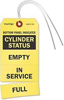 empty cylinder tags