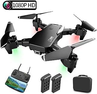 Drone con Cámara, Mini Drone con 1080P HD WiFi FPV, 30 Minutos de Tiempo de Vuelo(2 Baterías), Altitude Hold, Modo sin Cabeza, Vuelo de Trayectoria, 3D Flip, Adecuado para Principiantes y Niños.