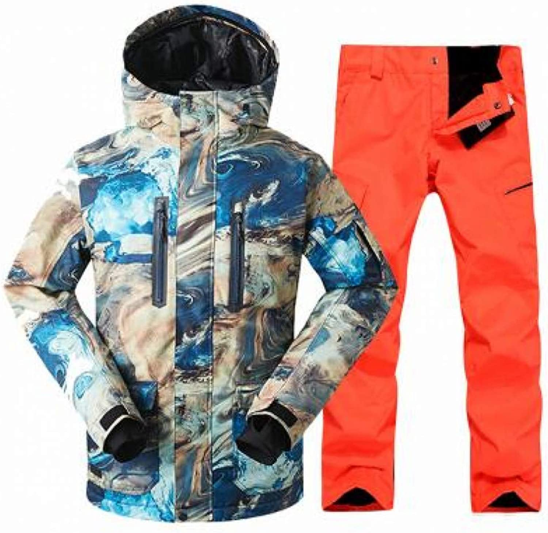 KUNHAN Men's ski jacket Men's ski wear Male Sports Professional Windproof Ski Suit Winter New Men'S Double Board Snowboard Ski Jacket