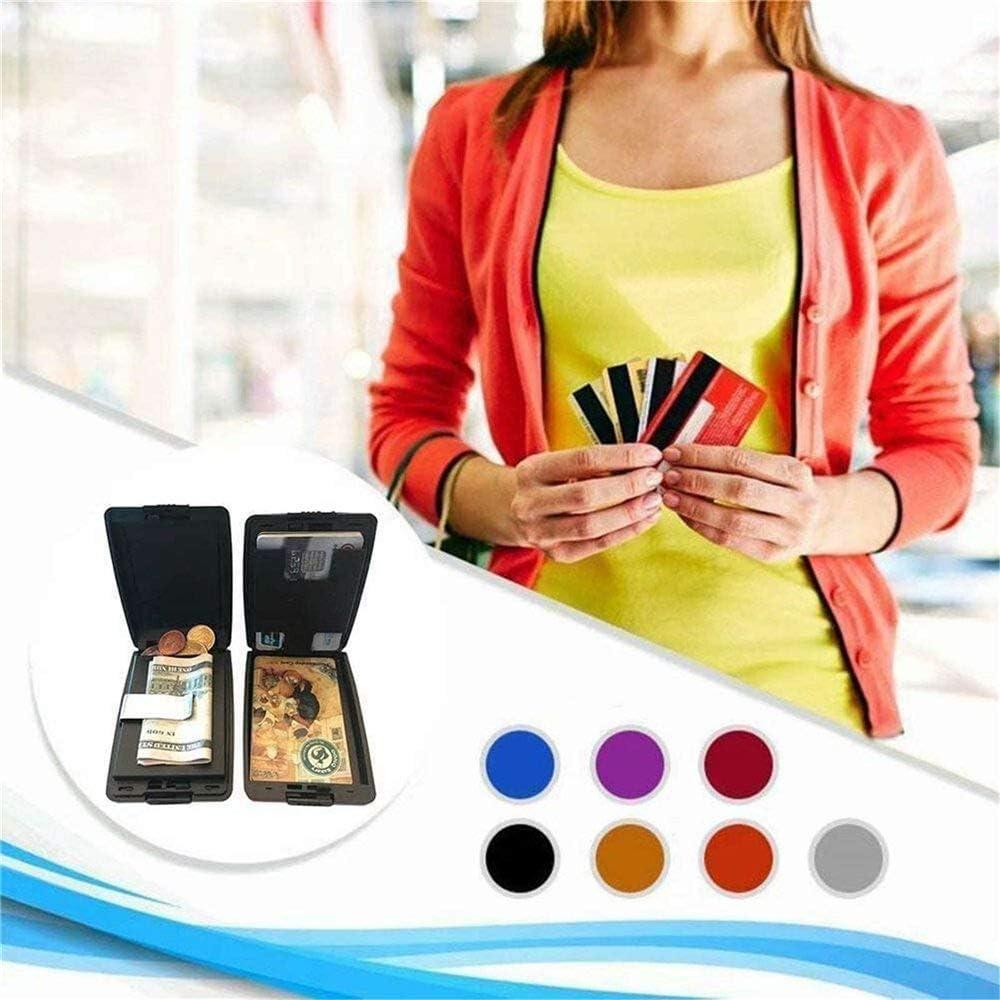 Hongshengchang Secure Deposits and Payouts Wallet Wallet Aluminum Wallet Credit Card Holder,Security Wallet Credit Card Hard Case for Men or Women Azul