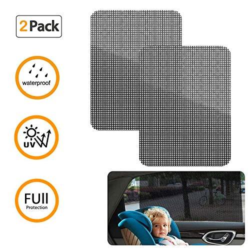 ZONSUSE Auto-Sonnenschutz-Aufkleber für Seiten- und Heckscheibe,Sonnenschutz Auto Baby 63 * 42CM UV-Aufkleber Auto-Sonnenschutz-elektrostatische Aufkleber